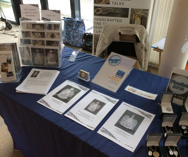 Lace patterns on display at event